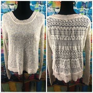 Free People knit sweater size Small